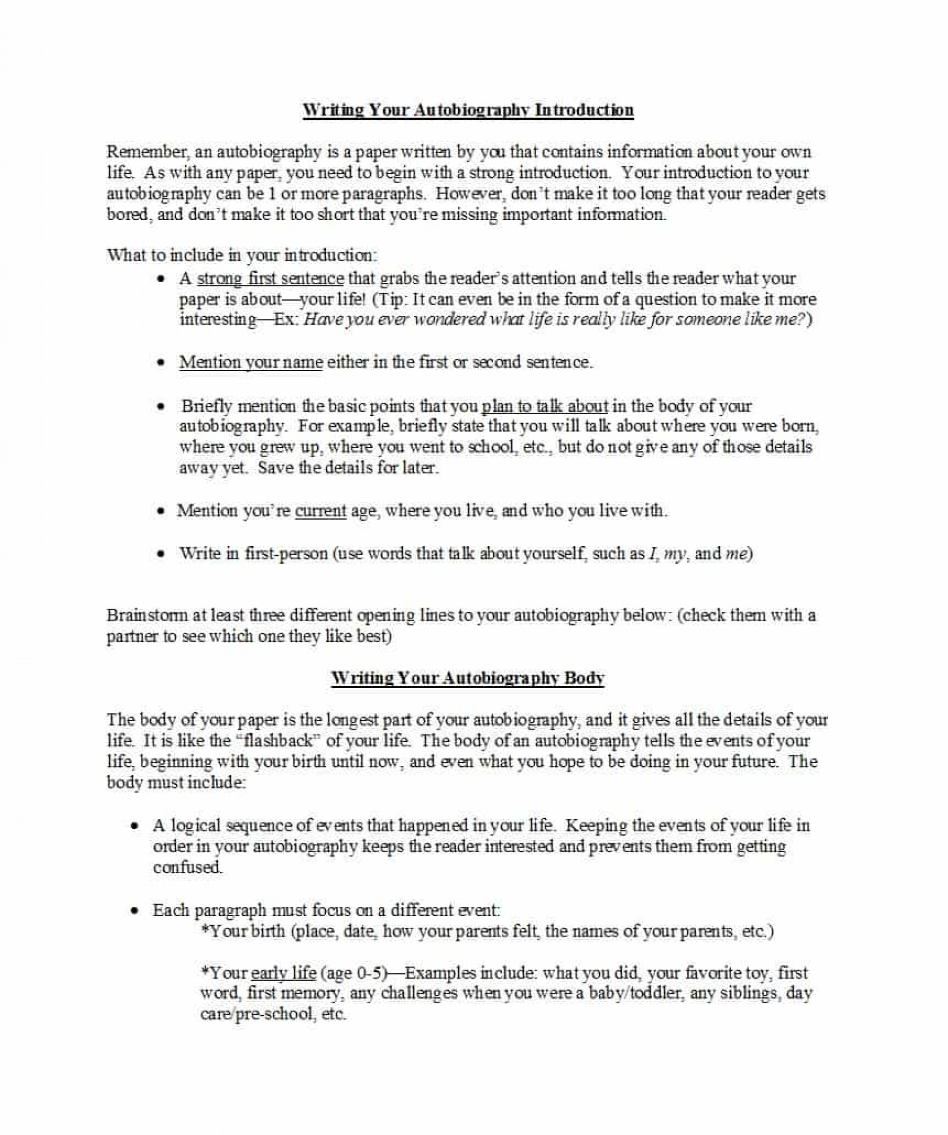 Sample Essay For High School Students  Biography Essay Example also Short English Essays For Students How To Write An Autobiography Essay For Medical School  Example Of A Report Essay
