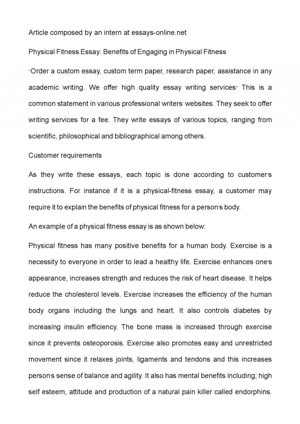 003 Benefits Of Exercise Essay Example Unusual Pdf Short On In Hindi Conclusion Large