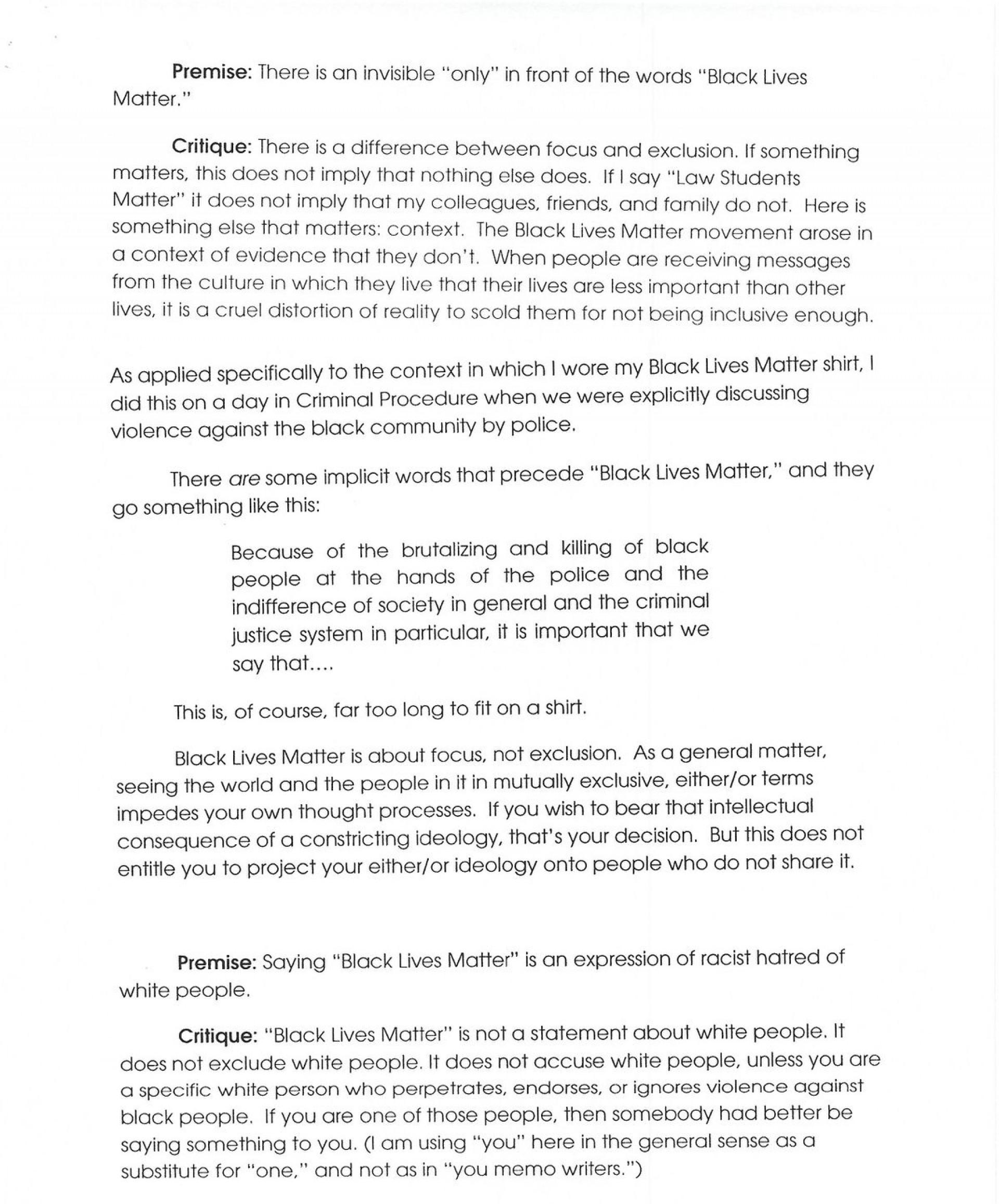 003 Black Lives Matter Essay Thesis Example Impressive 1920