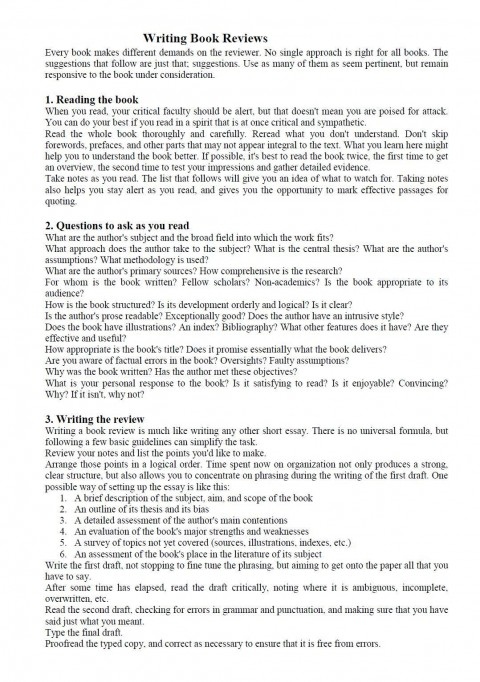 003 Book Essay Example How To Write Impressive Report Sample Examples Of Literary 480