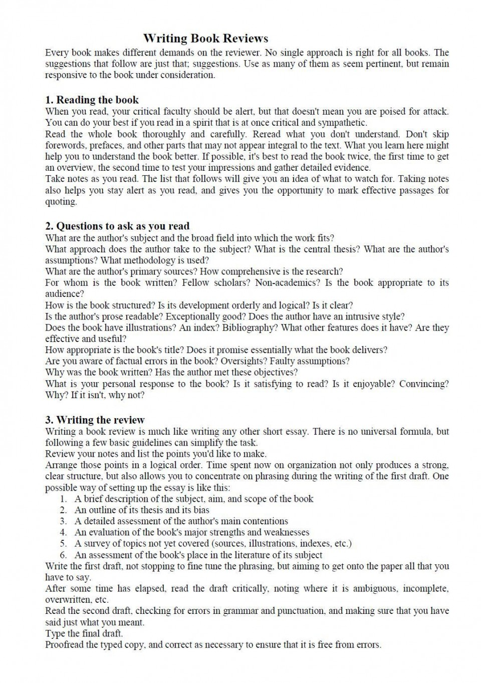003 Book Essay Example How To Write Impressive Report Sample Examples Of Literary 960