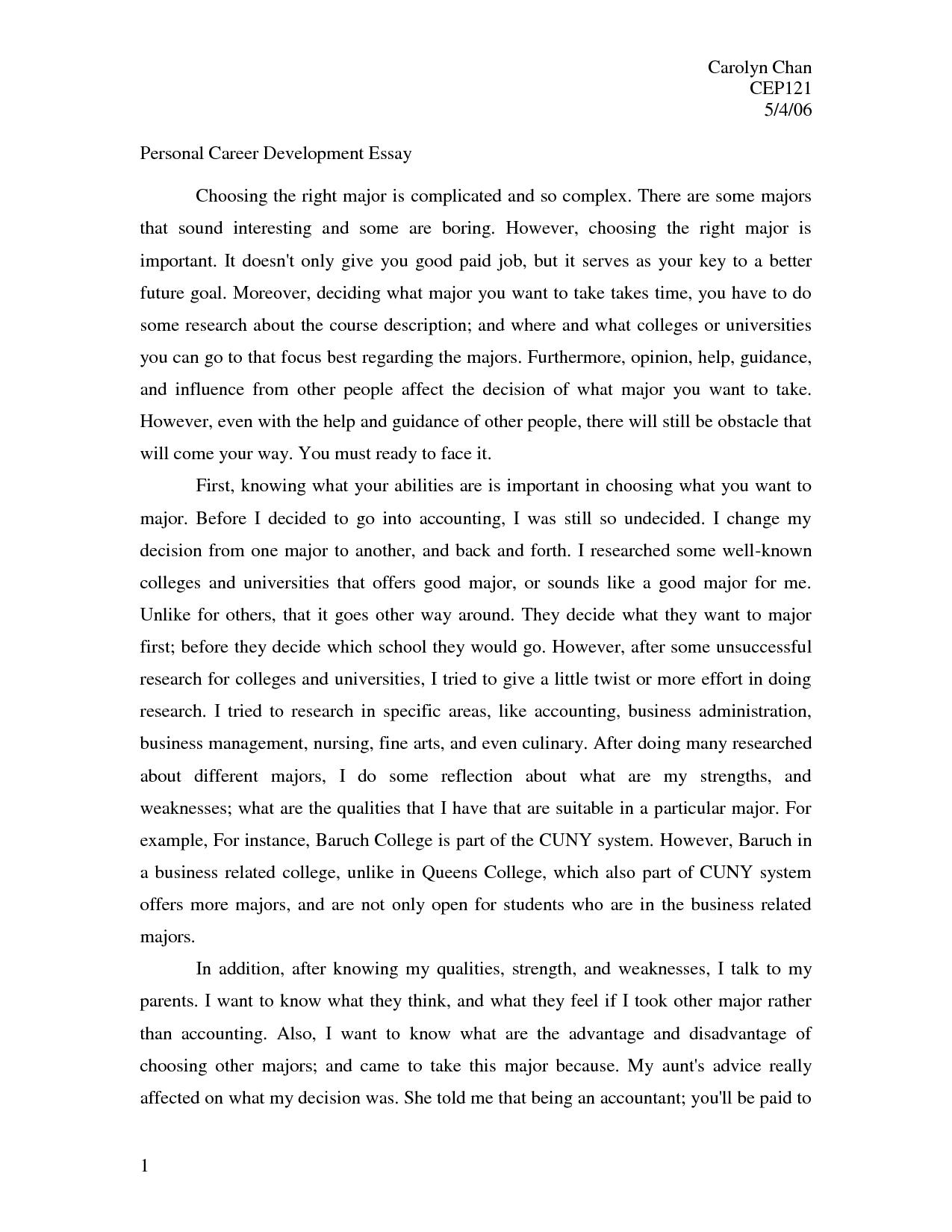 Best job essay