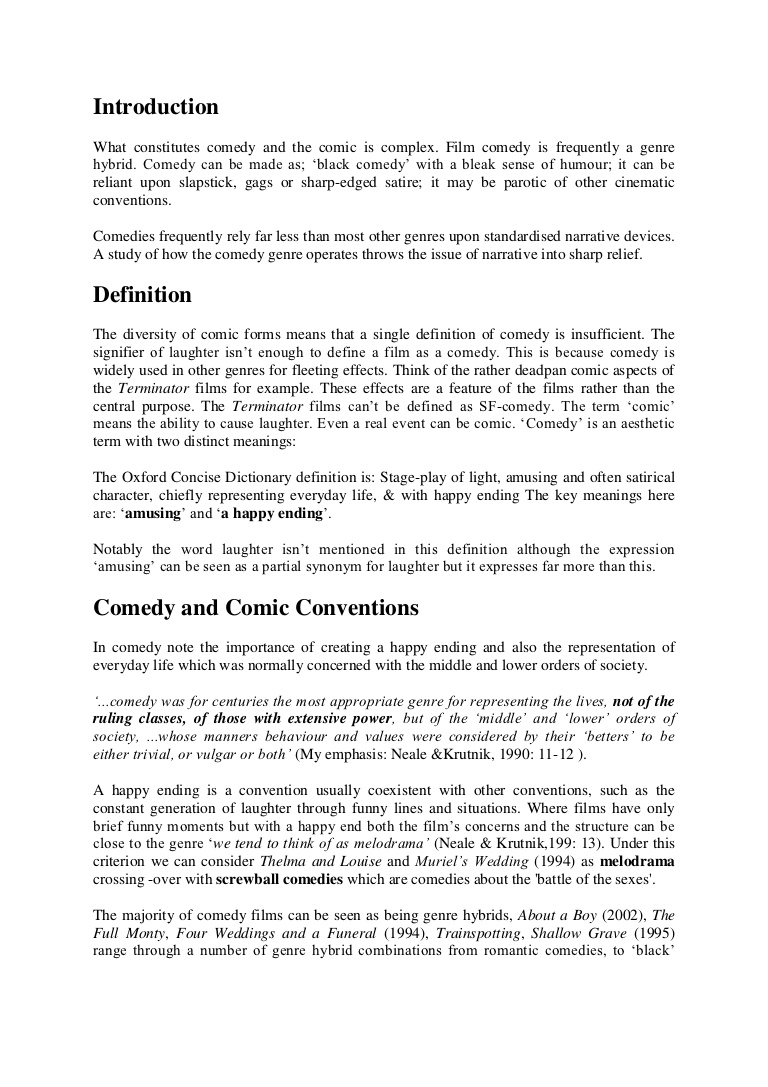 003 Comedyconventionsessay Phpapp01 Thumbnail Ending An Essay Excellent Ways To End Expository With A Rhetorical Question Full