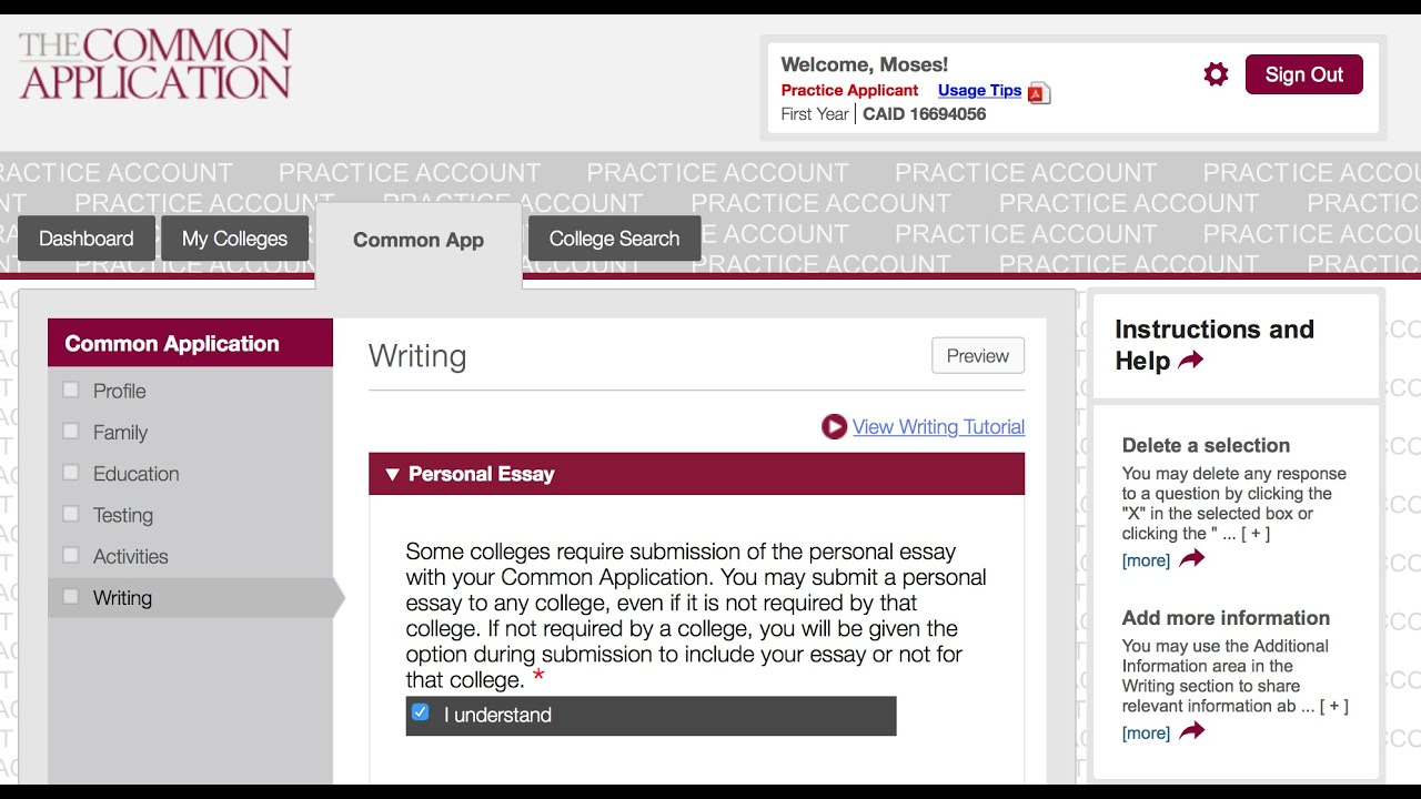 003 Common App Personal Essay Maxresdefault Breathtaking Format Tips Full