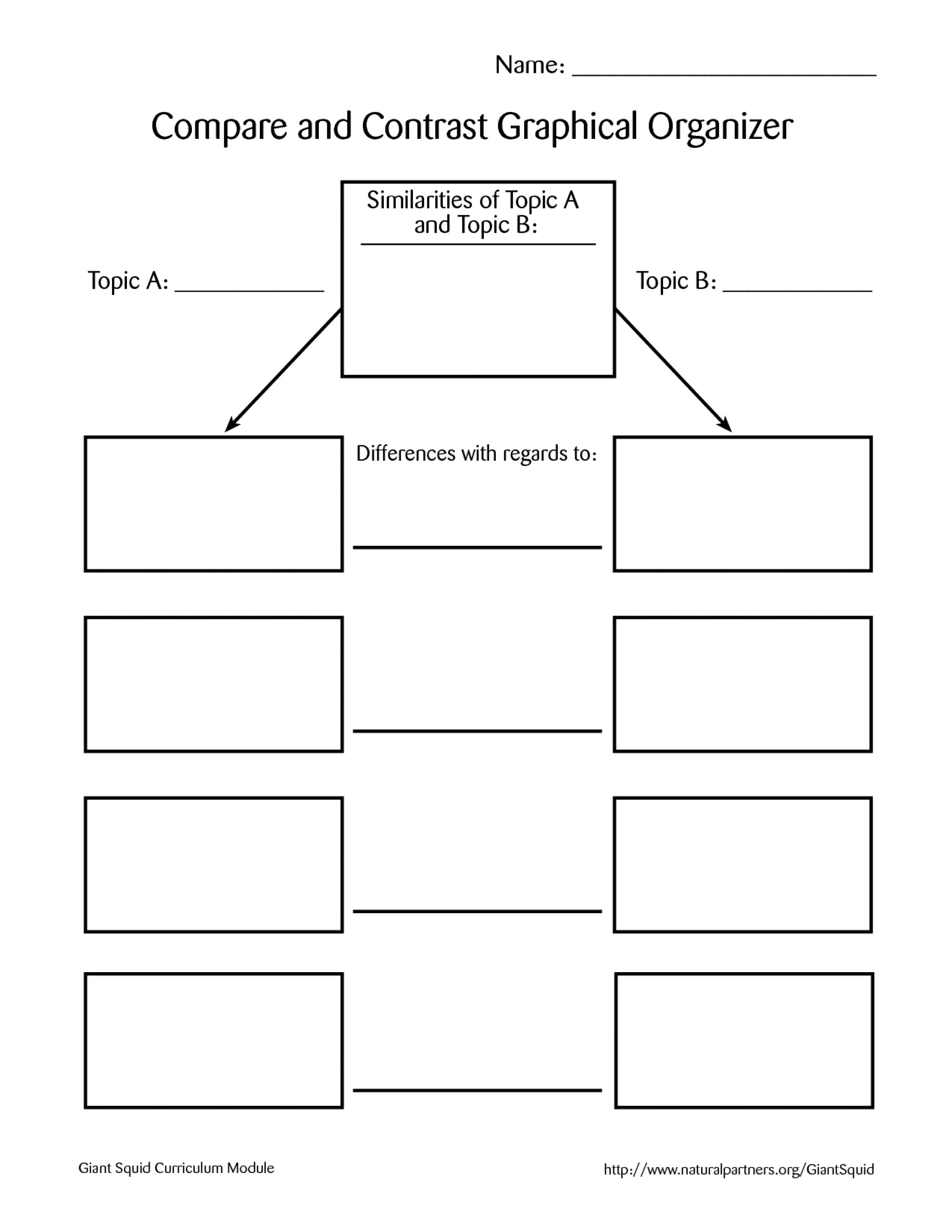 003 Compare And Contrast Essay Graphic Organizer Example Wondrous Middle School 1920