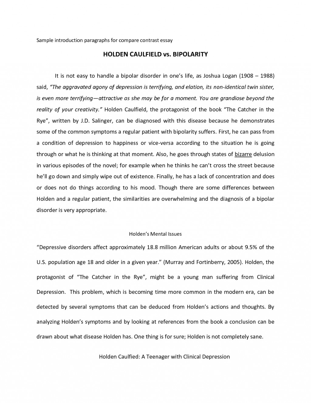 003 Compare And Contrast Essay Intro Example Fresh Of Introduction Extraordinary For Top Paragraph Sample Large