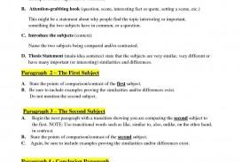 003 Comparison Essay Outline Unusual Example Sample Pdf