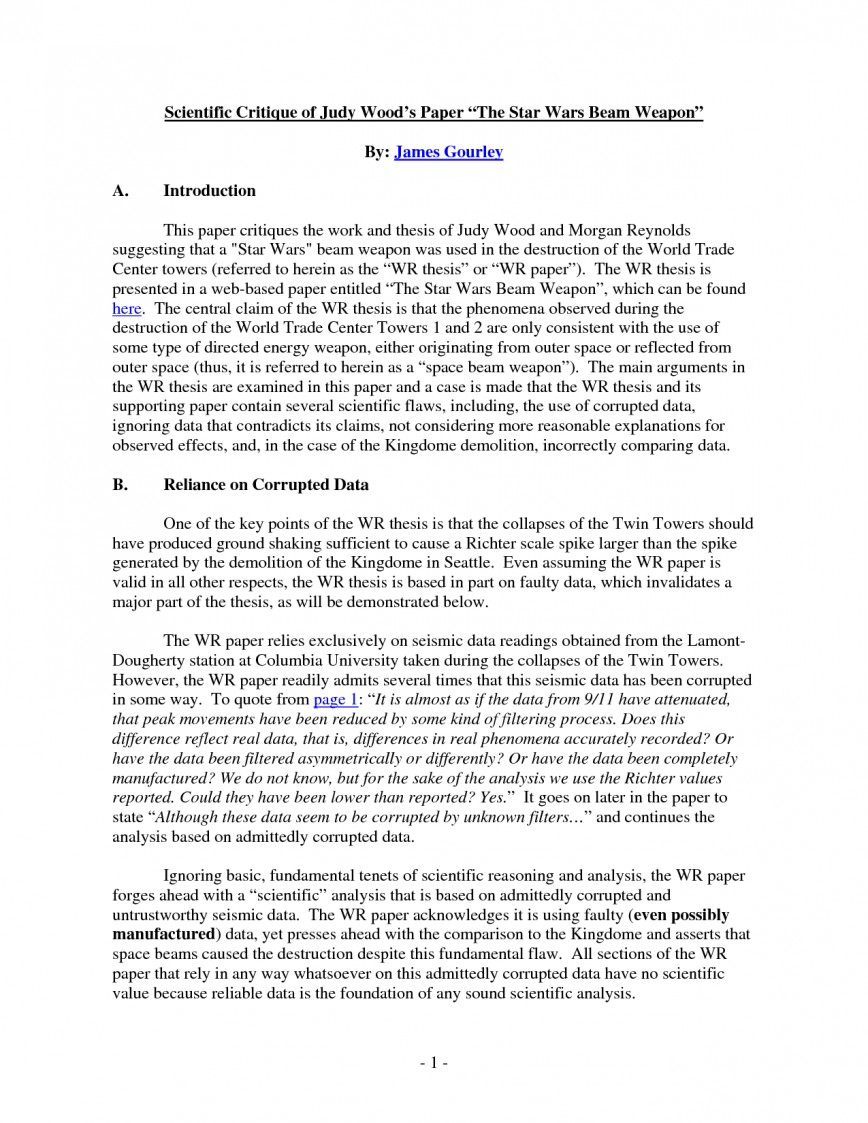 003 Critique Essay Example Of Research Paper 131380 Remarkable Sample Format Outline