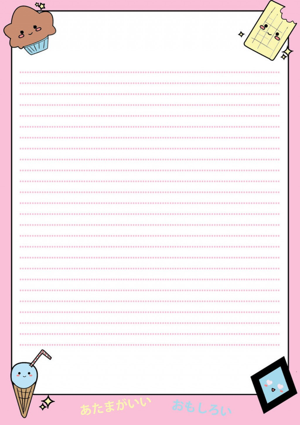 003 Custom Essay Order Example Writing Paper Letter Of Write My Cute 1 By Muddy Mudkip Frightening Large