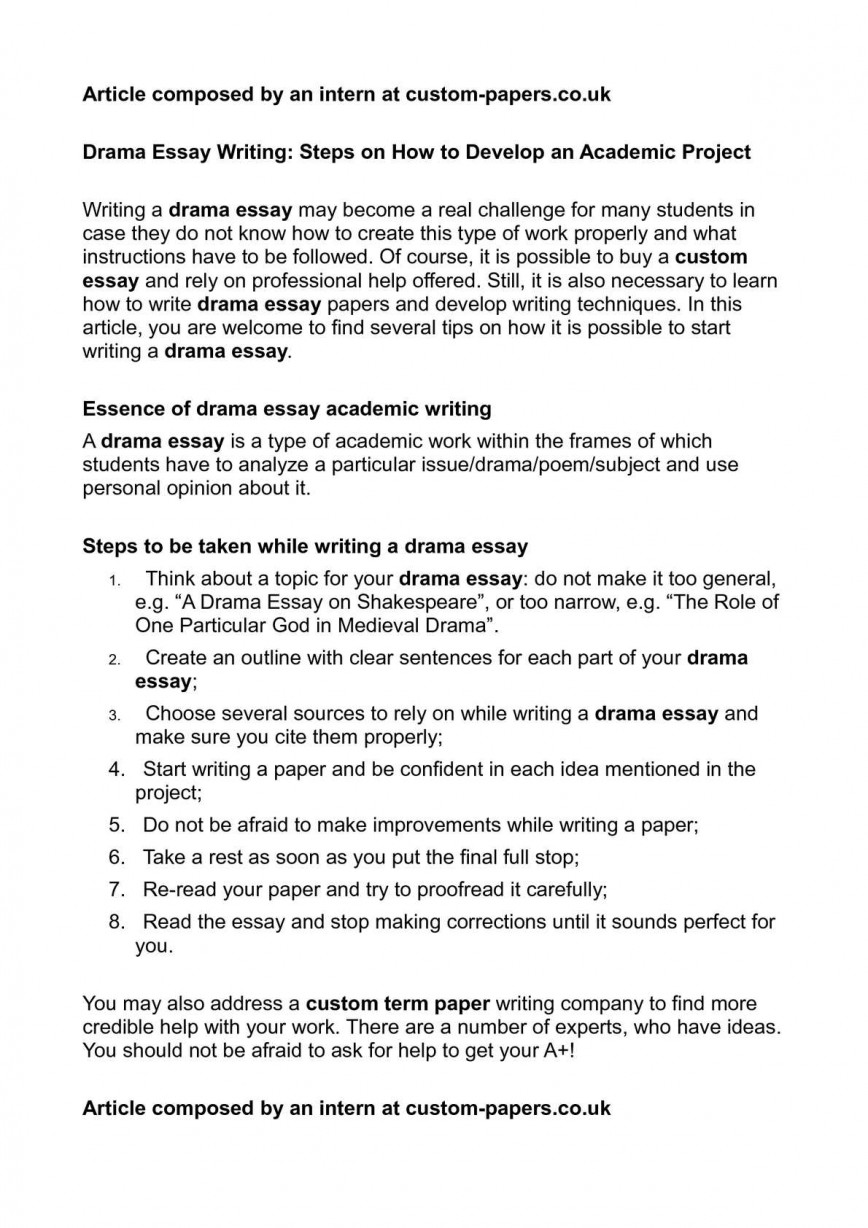 003 Drama Essay Example Awesome Gcse Examples Introduction Higher