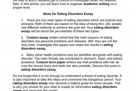 003 Eating Disorders Essay P1 Outstanding Psychology Title Essays Conclusion