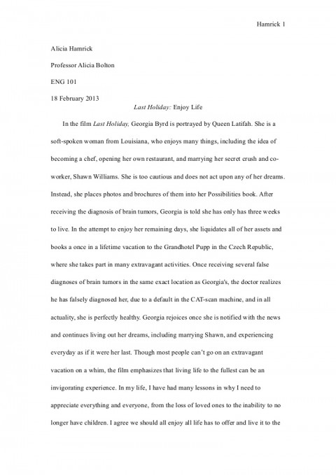 003 Eng101essay1revisied Phpapp02 Thumbnail Essay Example About My Archaicawful Life As A Student Experience Of University And Peer Pressure 480