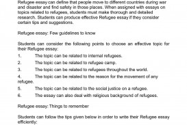 003 Essay About Refugees P1 Staggering Syrian Argumentative Persuasive 320