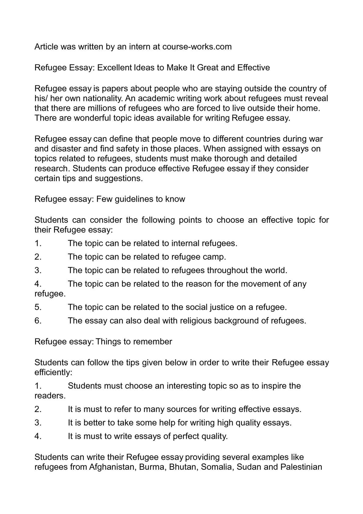 003 Essay About Refugees P1 Staggering Syrian Argumentative Persuasive