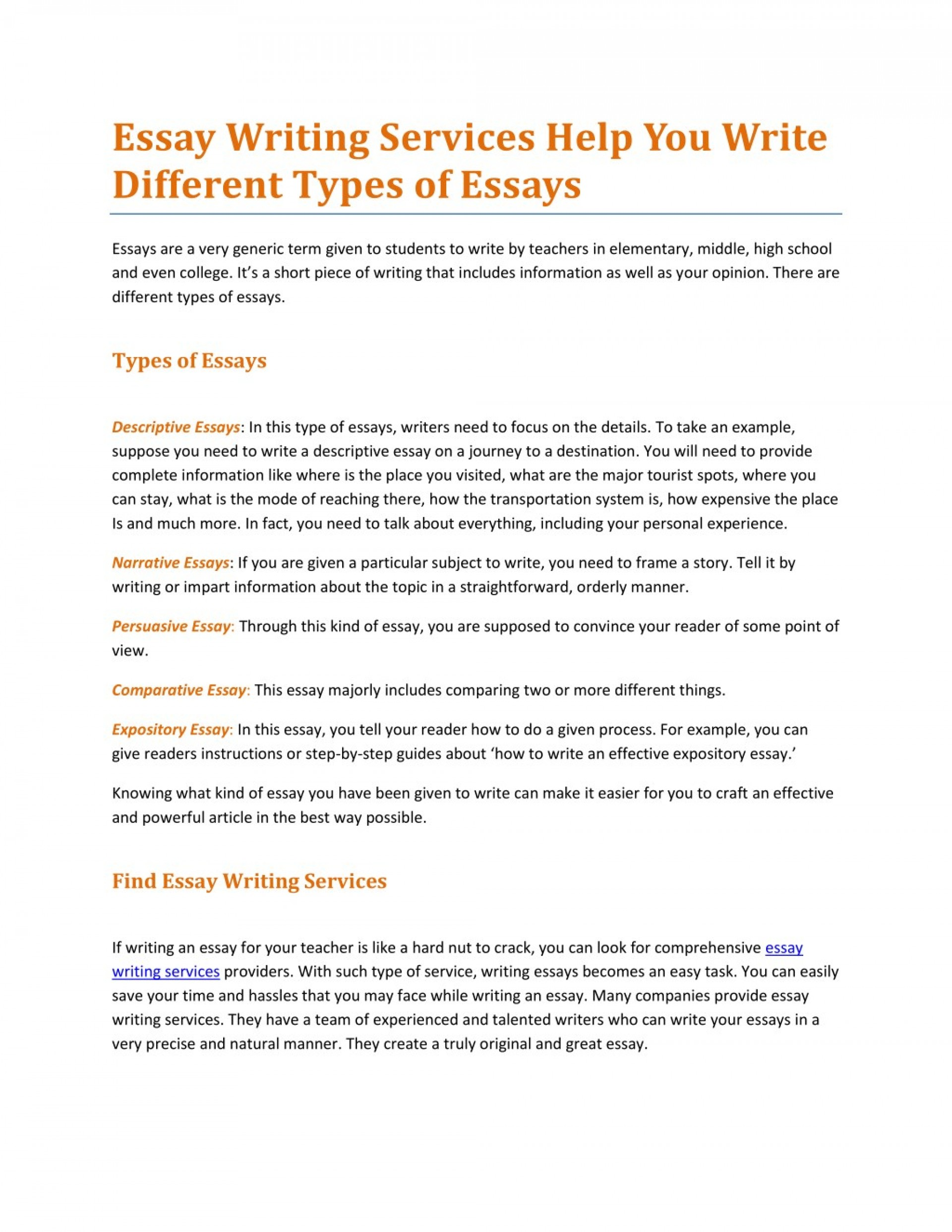 003 Essay About Types Of Students Writing Services Help You Write Different L Breathtaking Classification On College 1920