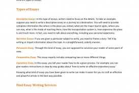 003 Essay About Types Of Students Writing Services Help You Write Different L Breathtaking Classification On College