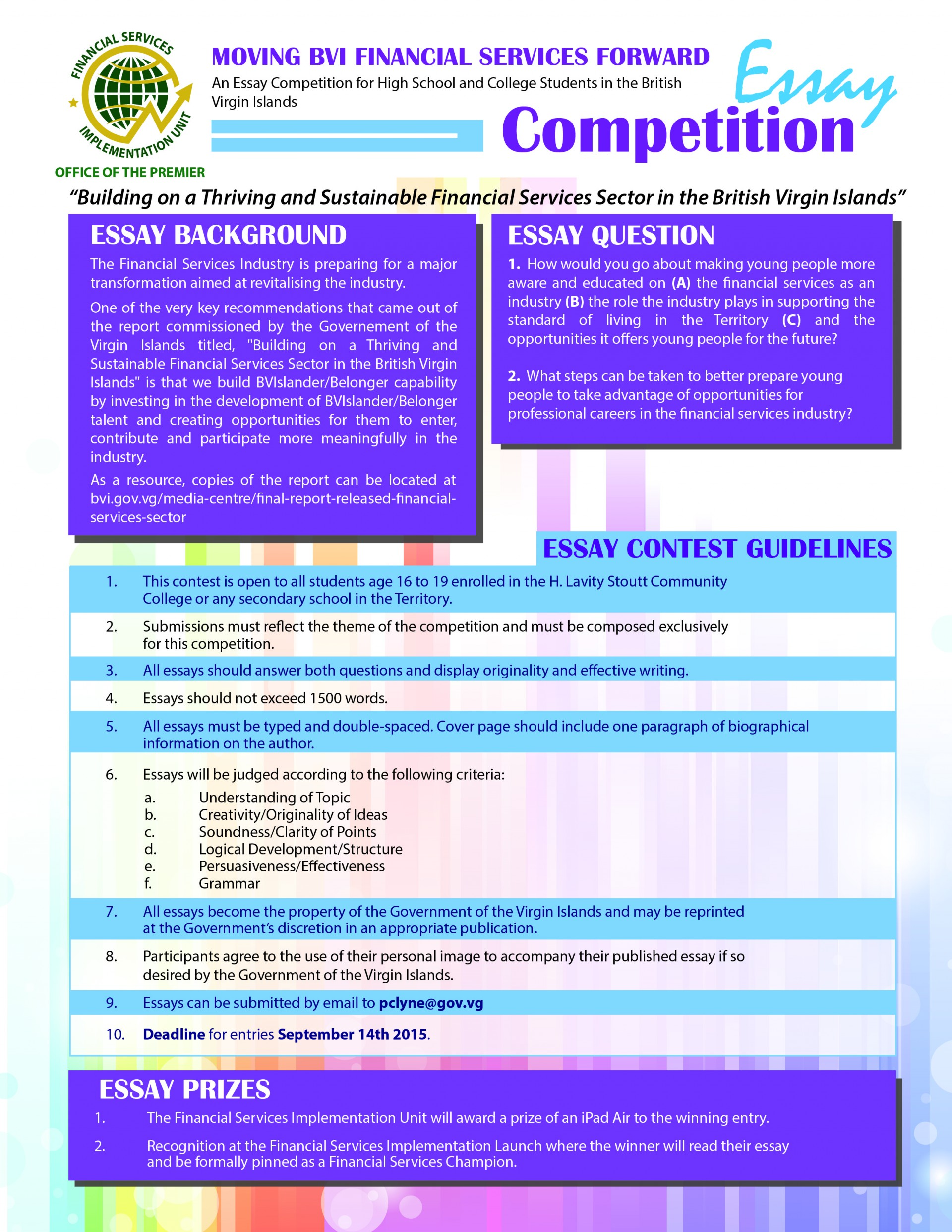003 Essay Contests For High School Students Example Essays On Competition Oxbridge College 344  Financial Services Targets Staggering 20171920