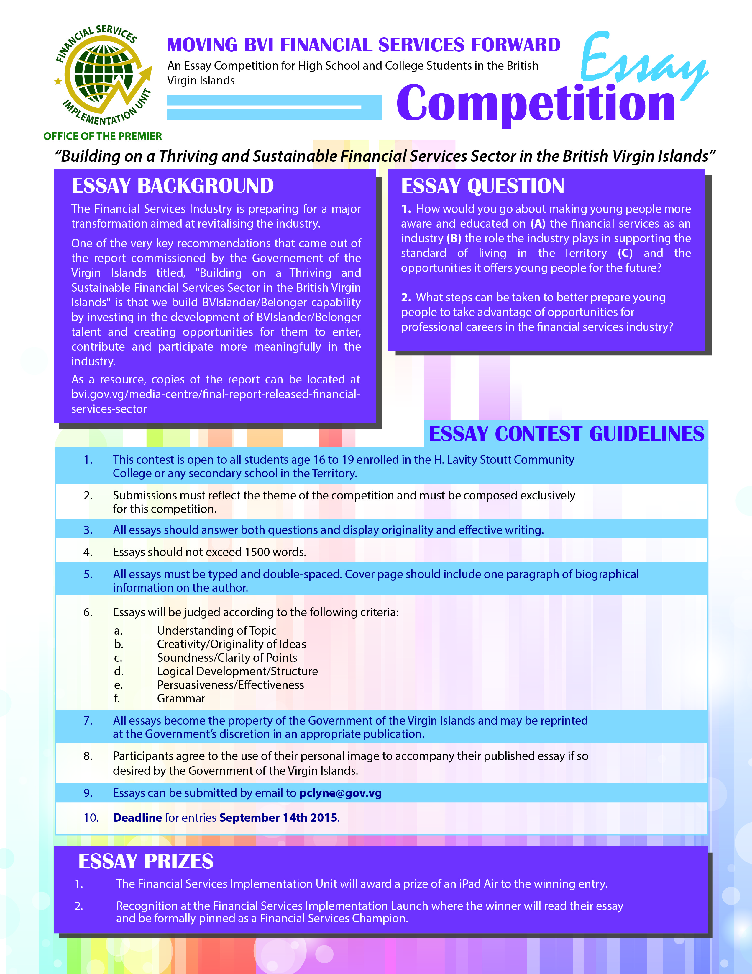 003 Essay Contests For High School Students Example Essays On Competition Oxbridge College 344  Financial Services Targets Staggering 2017Full