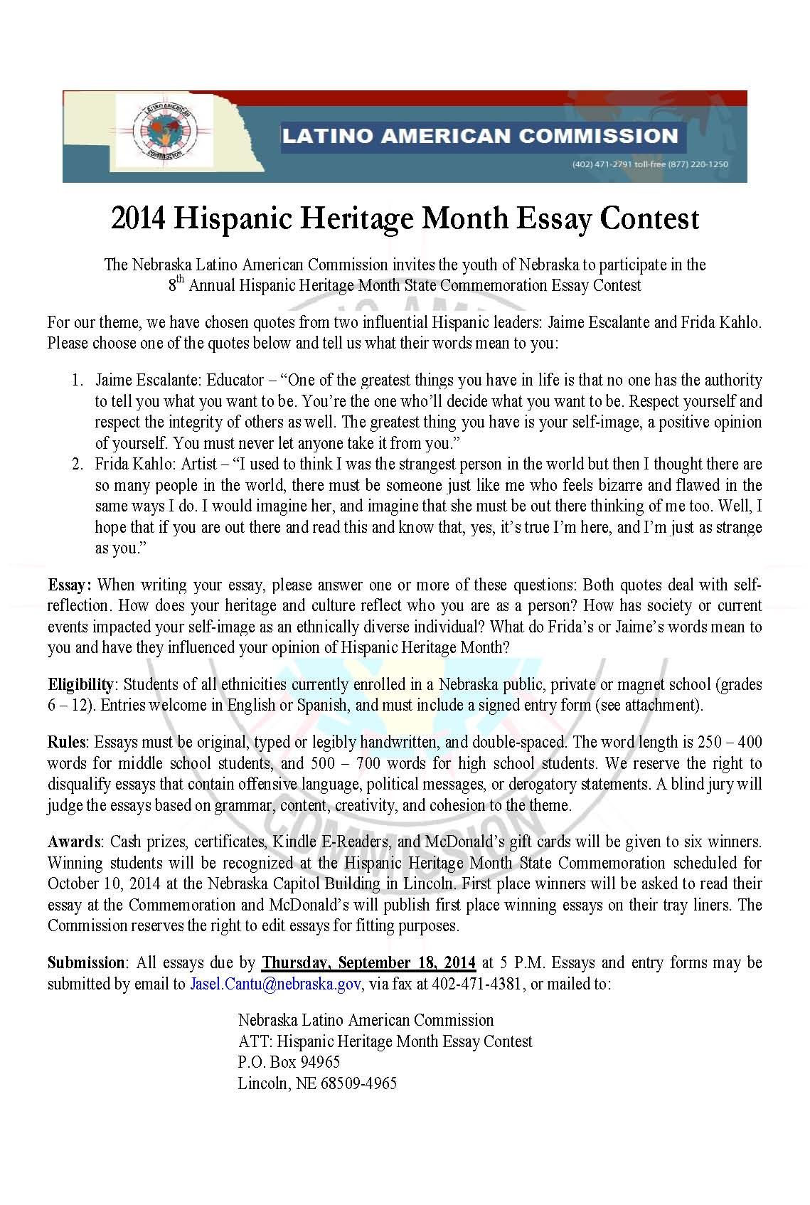 003 Essay Contests Imposing 2014 Maryknoll Contest Winners Full