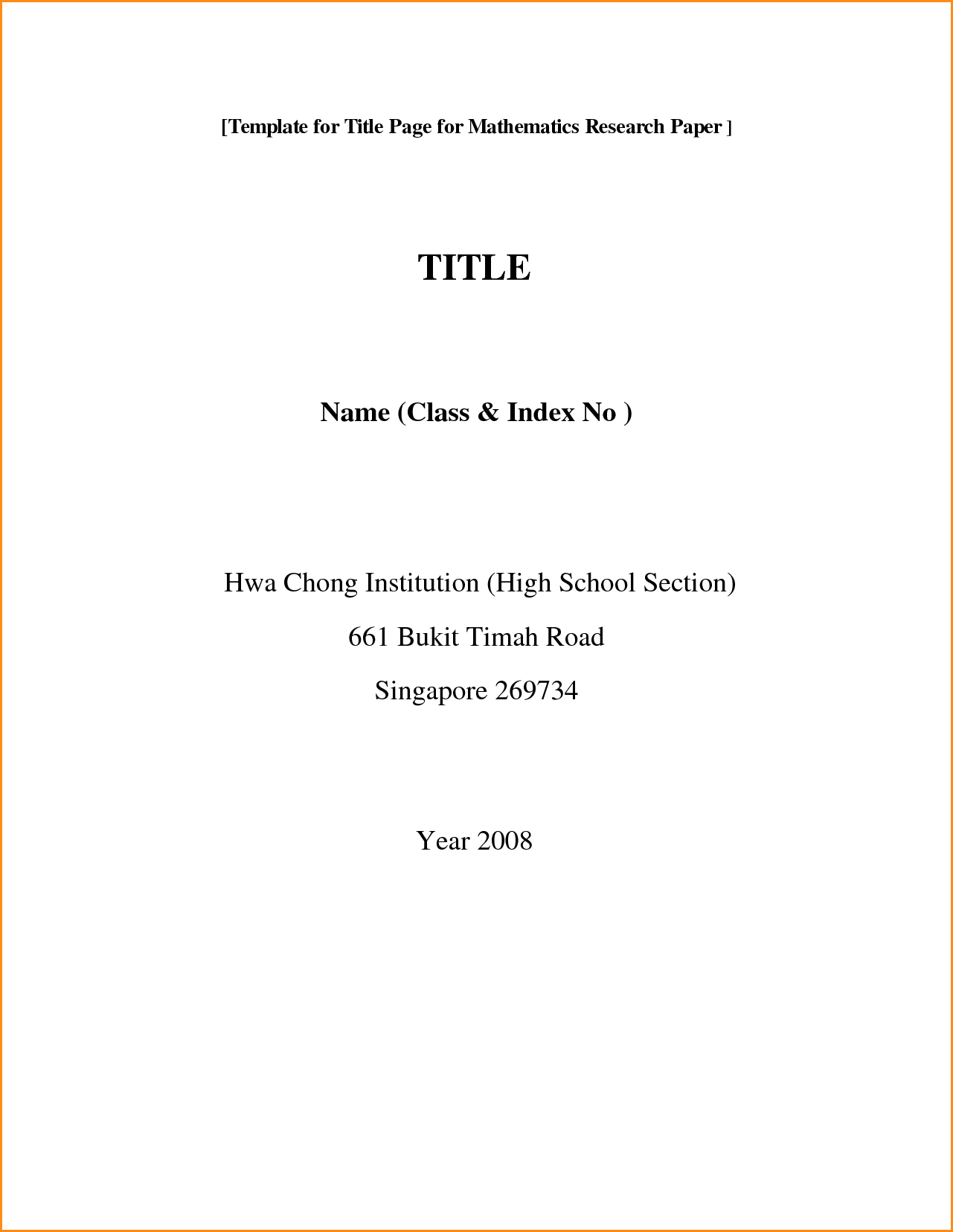 003 Essay Cover Page Template Example Front Of Research Paper Format Fantastic Mla Sample Download Full