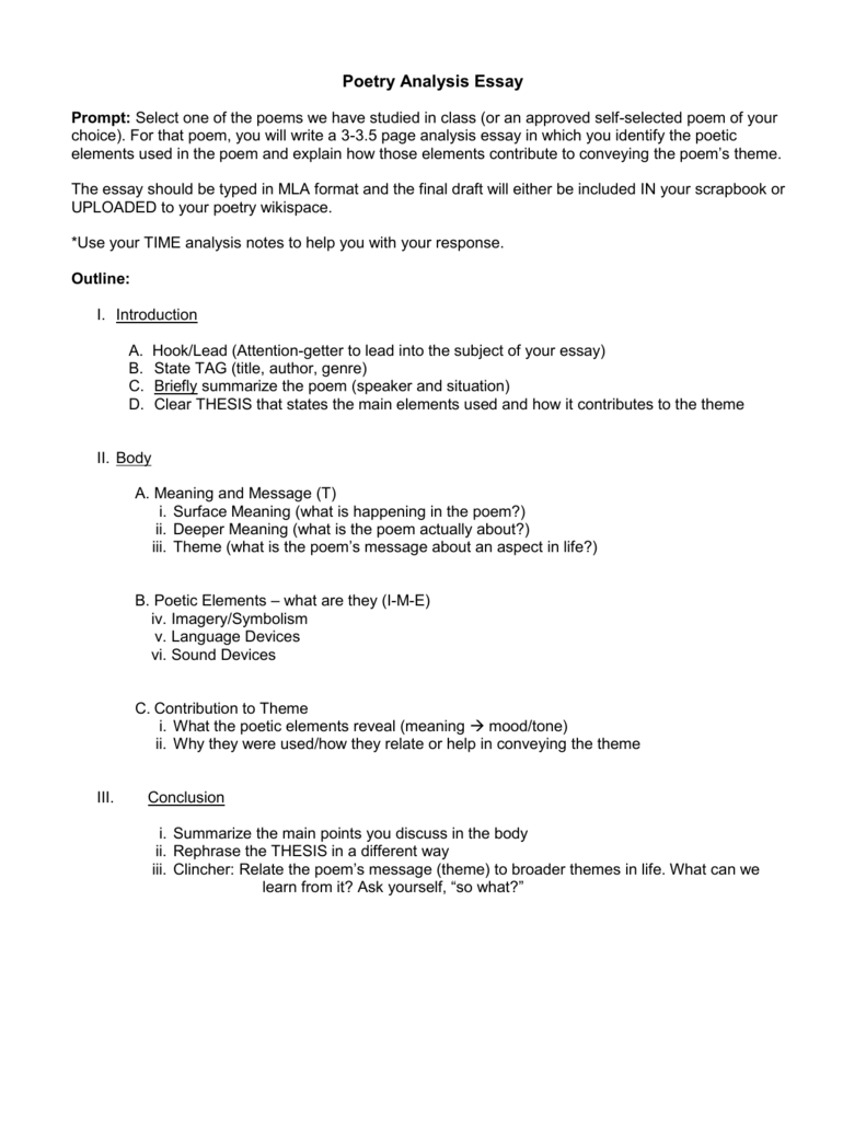 003 Essay Example 007600325 2 Poem Formidable Critique Analysis Introduction Outline Template Full