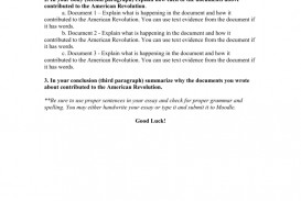 003 Essay Example 007699145 2 American Fascinating Revolution Causes Of The Conclusion Outline Introduction