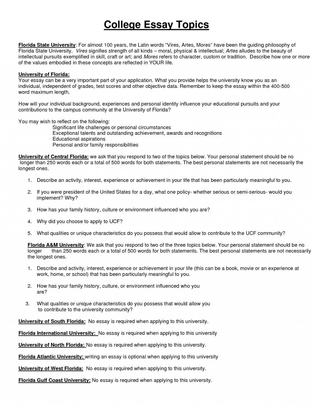 003 Essay Example 4khqbt5dlt Creative College Marvelous Topics List Interesting 2018 Large