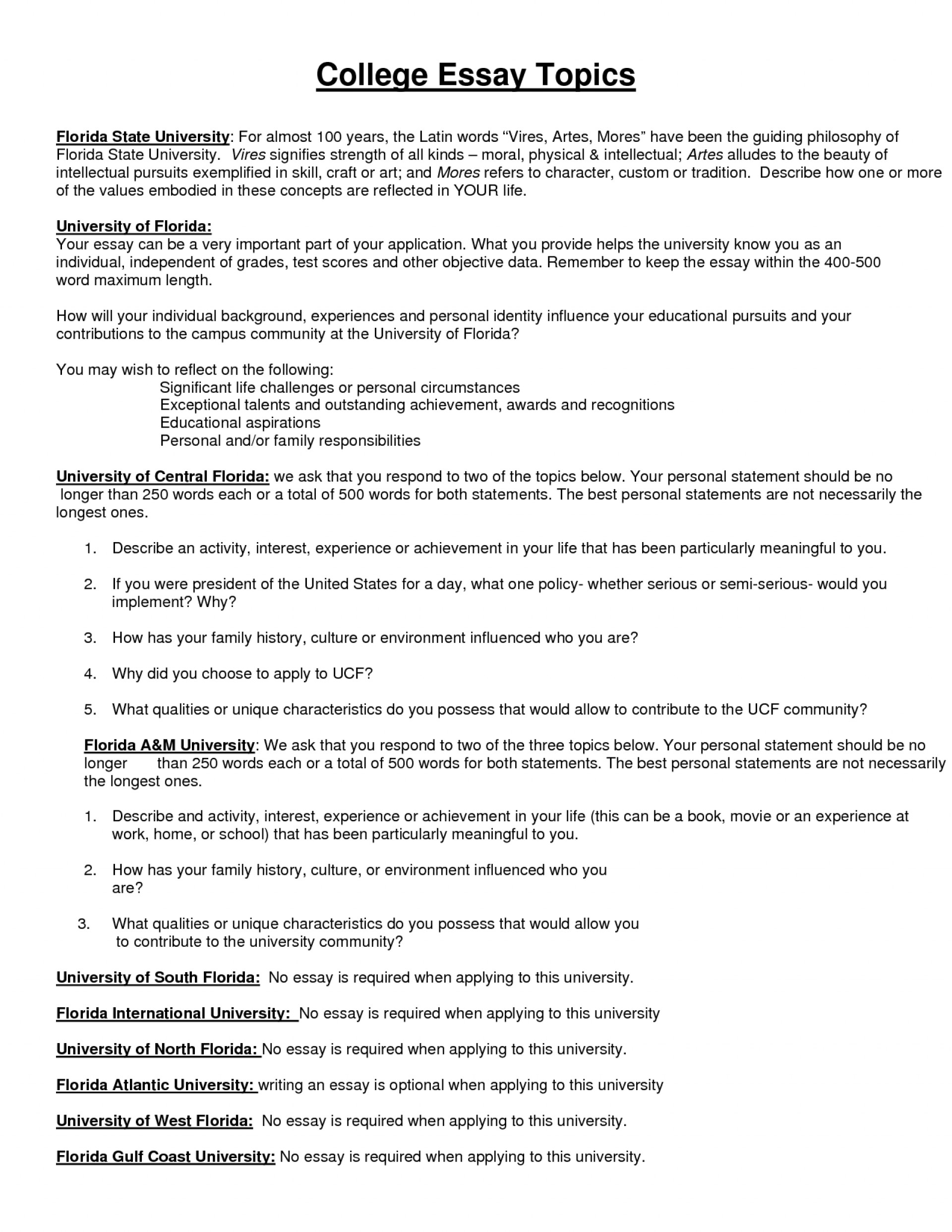 003 Essay Example 4khqbt5dlt Creative College Marvelous Topics List Interesting 2018 1920