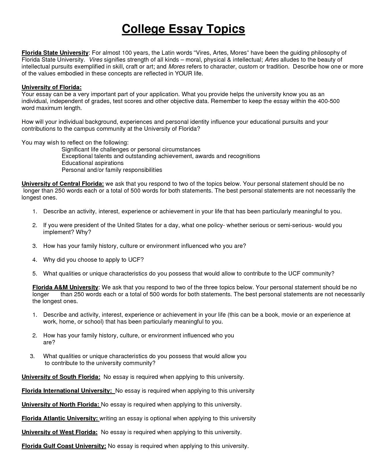 003 Essay Example 4khqbt5dlt Creative College Marvelous Topics List Interesting 2018 Full