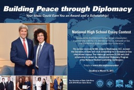 003 Essay Example Afsa High School Contest National Building Peace Through Diplomacy Staggering