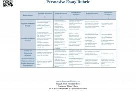 003 Essay Example Argumentative Surprising Rubric Grade 7 Persuasive 10th