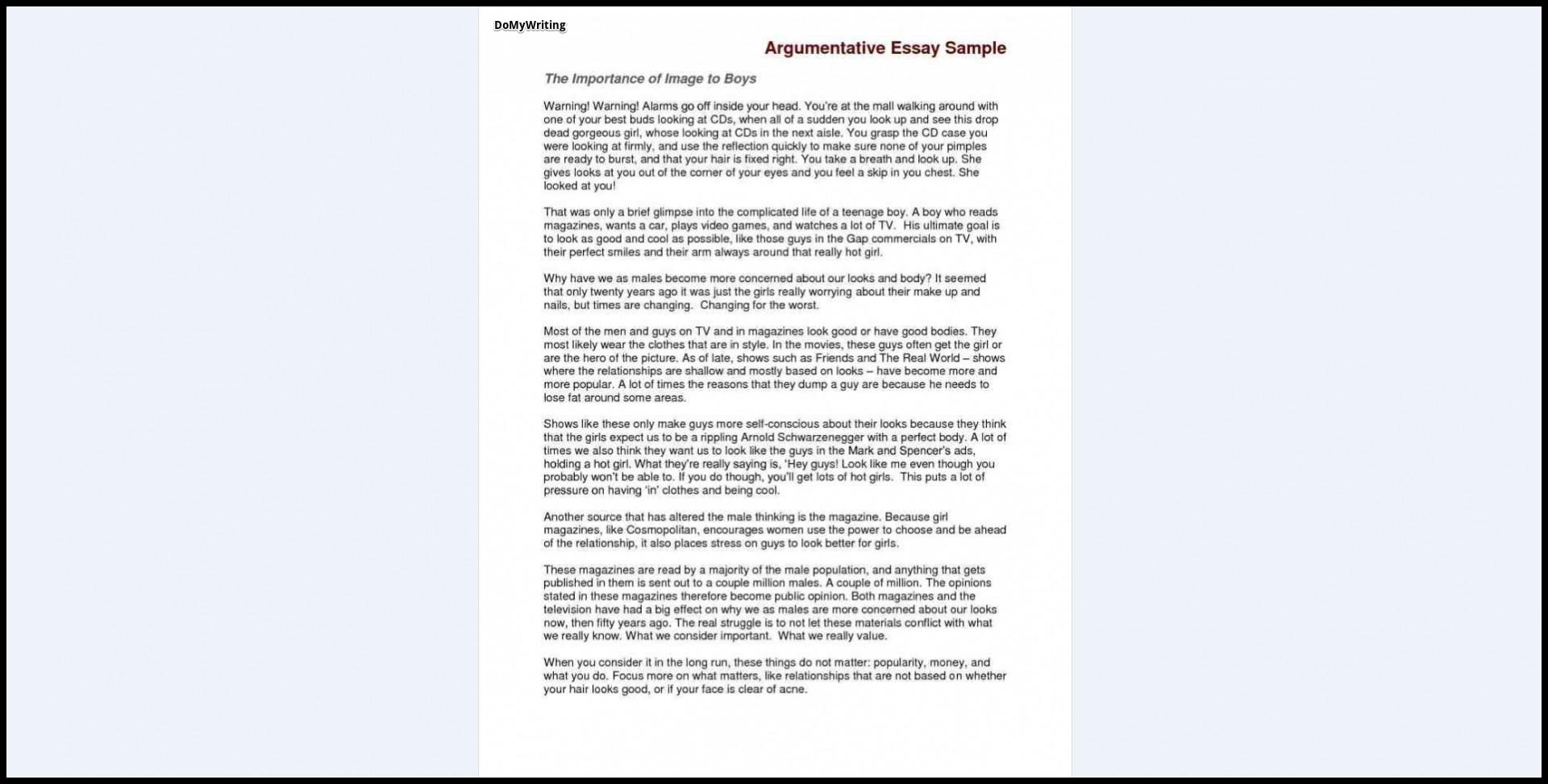 003 Essay Example Argumentative Sample Who Are Rare You Question Describe 1920