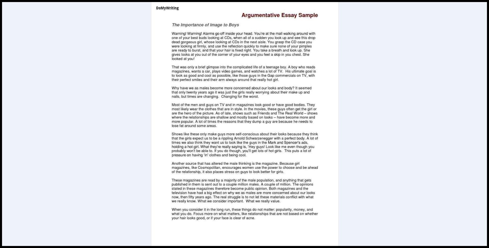 003 Essay Example Argumentative Sample Who Are Rare You Question Describe Full