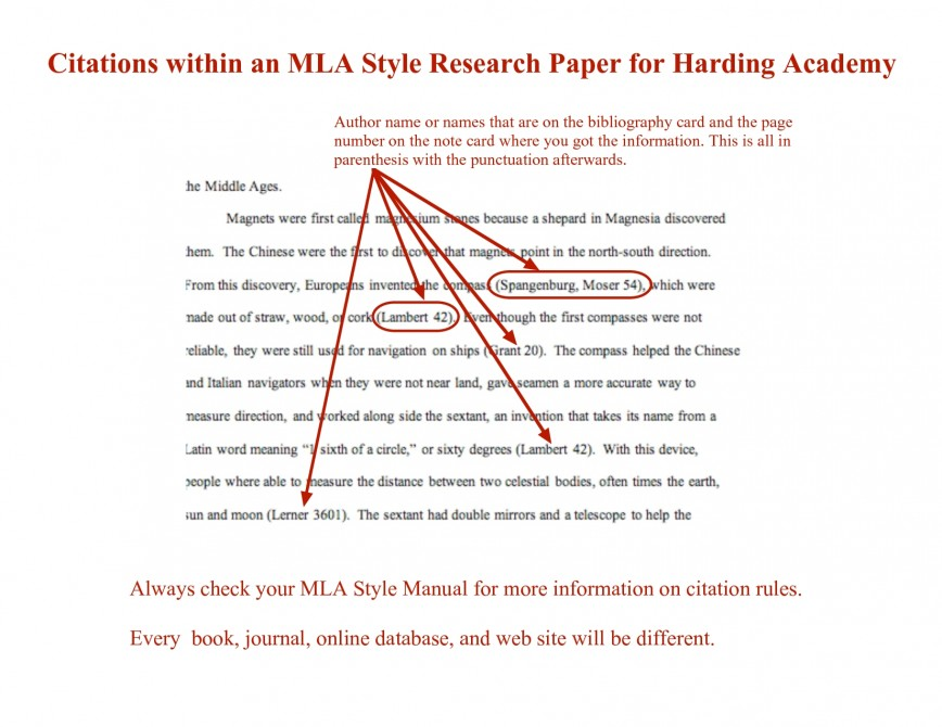 how to cite within a paper