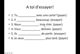 003 Essay Example Essayer Conjugation French Breathtaking Future Verb Past