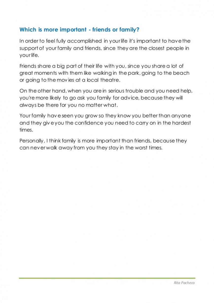 003 Essay Example Essayfriendsvsfamily Conversion Gate01 Thumbnail About Singular Friends My Family And Short Story Friendship For Students Tagalog