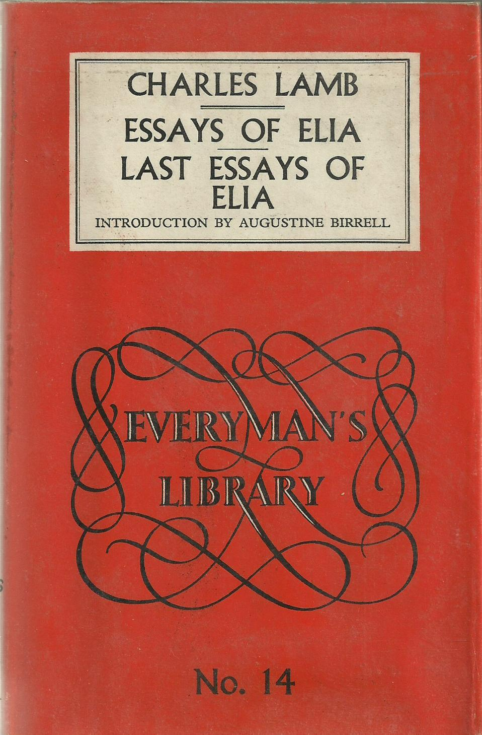 003 Essay Example Essays Of Striking Elia Epub Summary Text Pdf Full