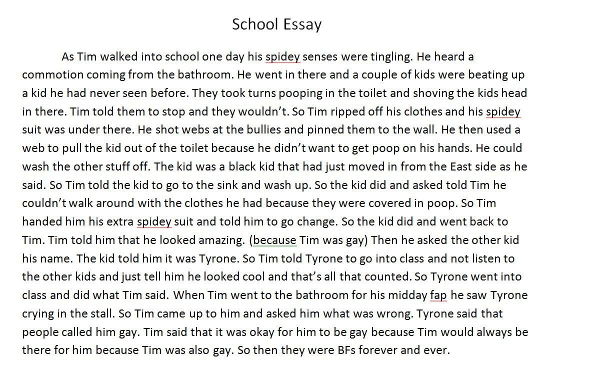 003 Essay Example Fddb74 3451752 About Phenomenal A School Narrative Trip Elementary Experience New Boy At Full