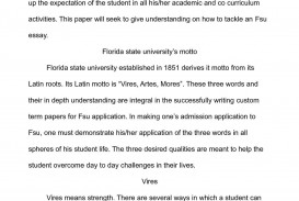 003 Essay Example Fsu Prompt Essays Simplified And How To Succeed In Writing O Florida State University Examples Unique Care Program 320