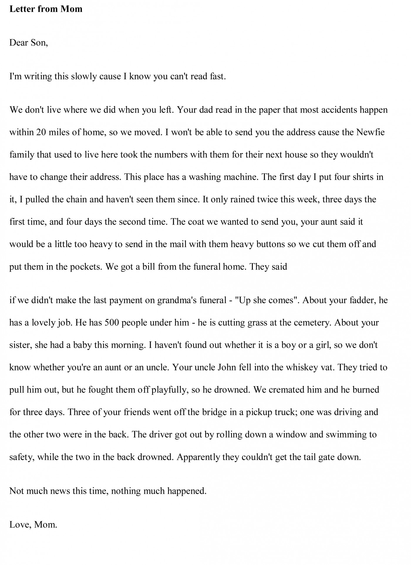 003 Essay Example Funny Essays Free Stupendous Topics Written By Students For College 1400