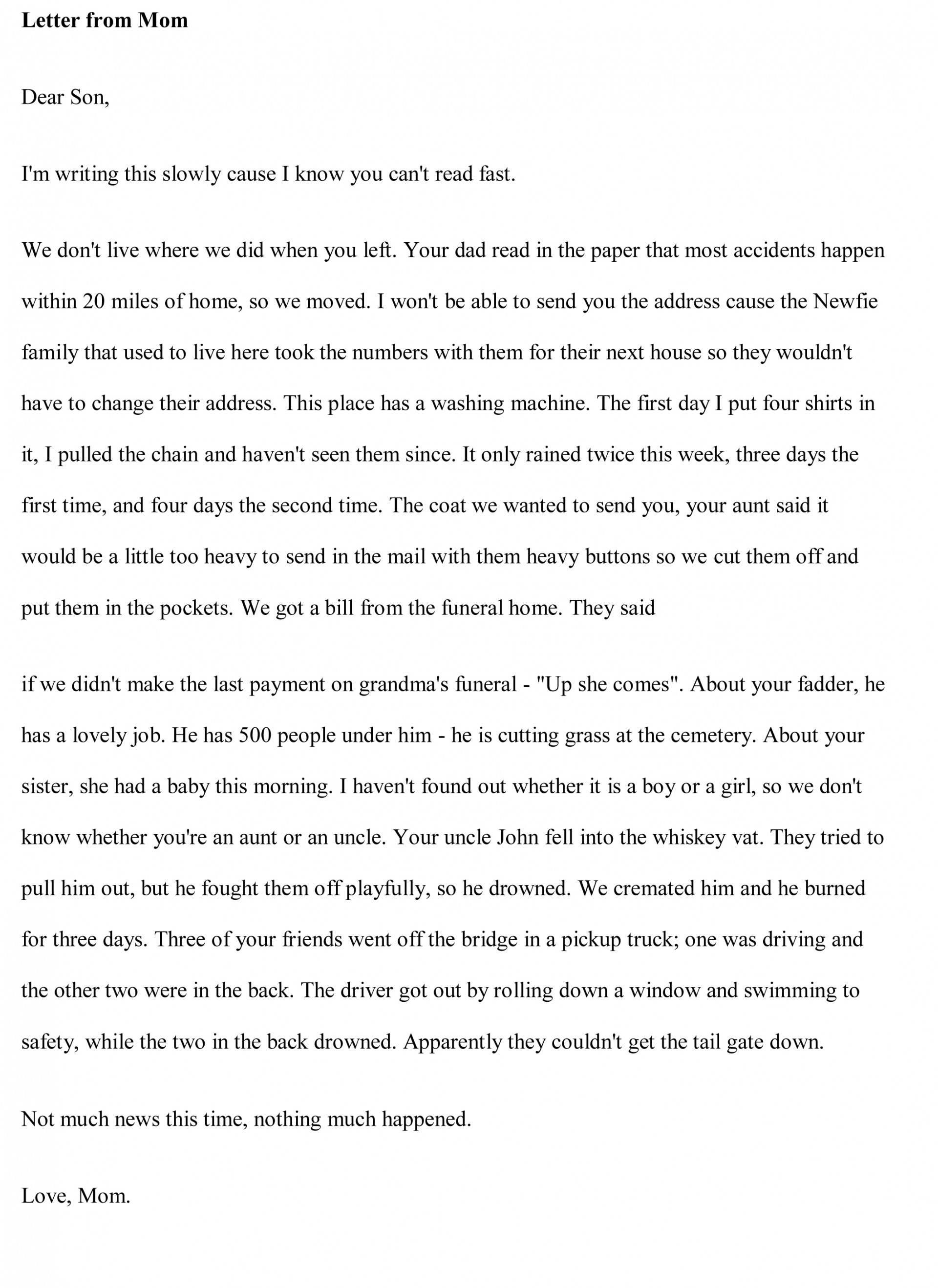 003 Essay Example Funny Essays Free Stupendous Examples Short 1920