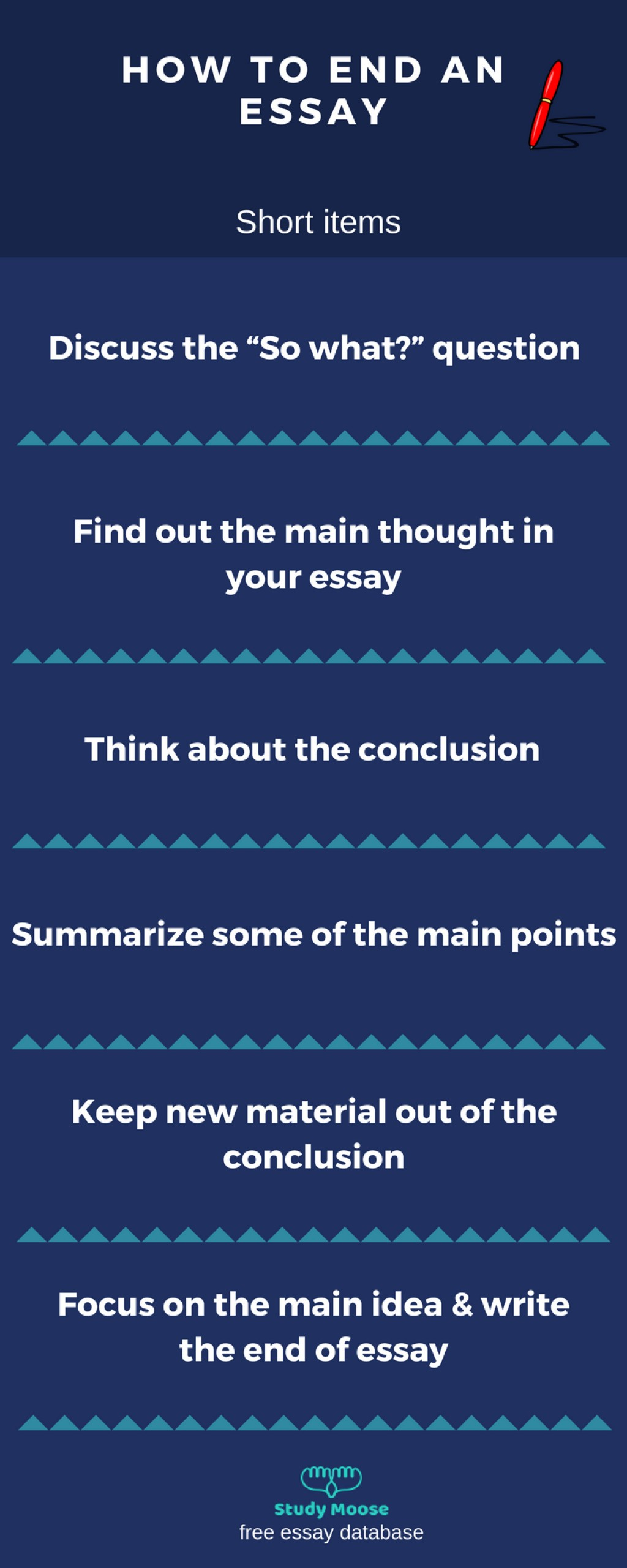 003 Essay Example Good Ways To End An Outstanding Best Way Argumentative How Opinion Large