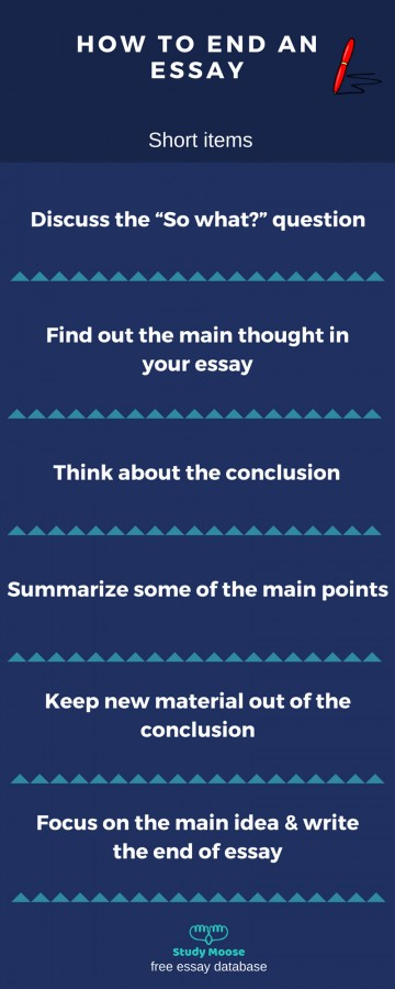003 Essay Example Good Ways To End An Outstanding Opinion Best Way Argumentative What Are Some 360
