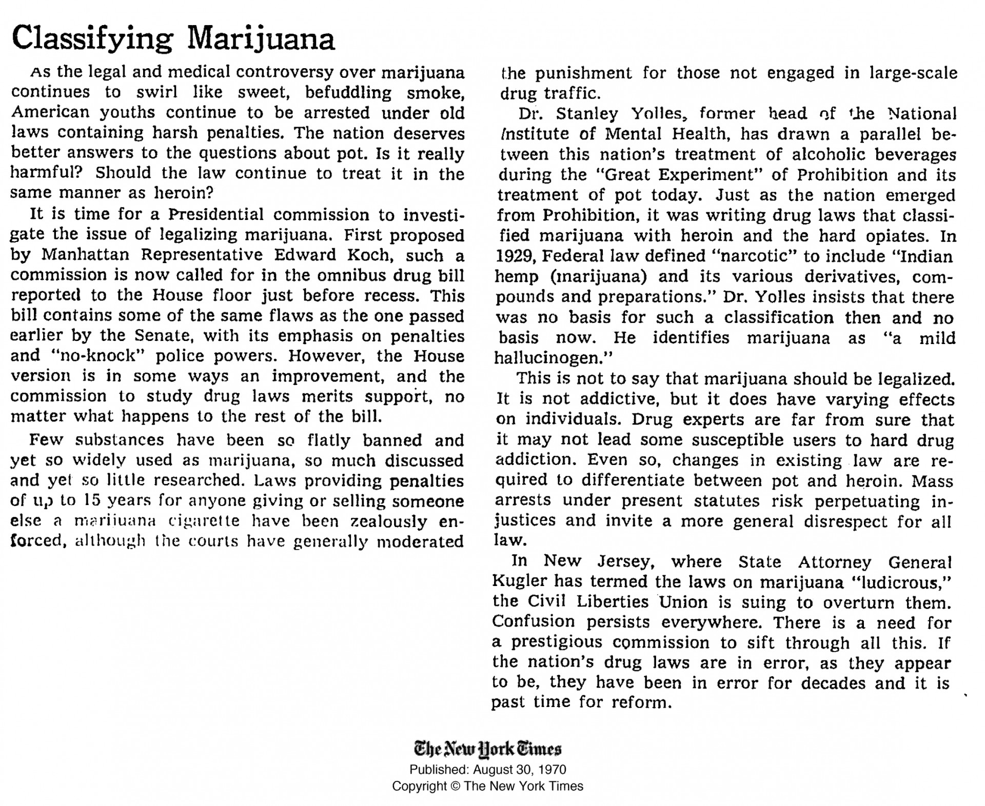 003 Essay Example High Time Classifying Marijuana August Breathtaking Topics Titles Outline 1920