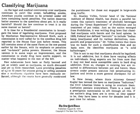003 Essay Example High Time Classifying Marijuana August Breathtaking Topics Titles Outline 480