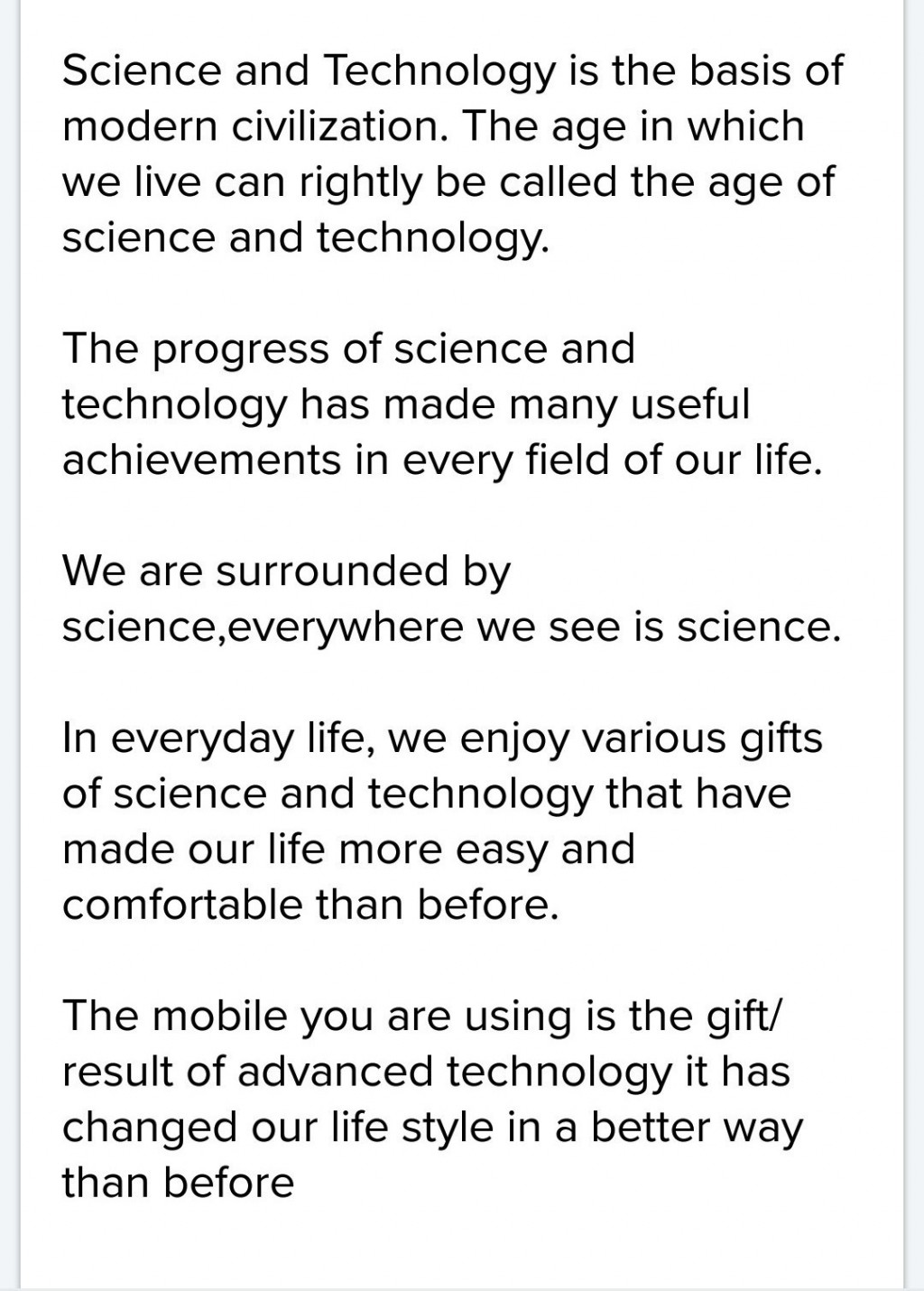 003 Essay Example How Technology Has Changed Our Awesome Lives Pdf On For The Worst Large