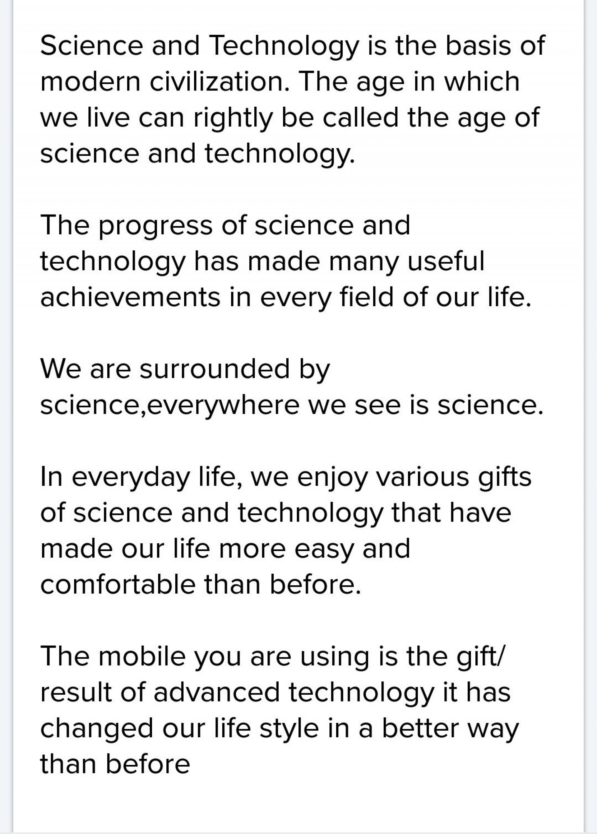 003 Essay Example How Technology Has Changed Our Awesome Lives Pdf On For The Worst 1920