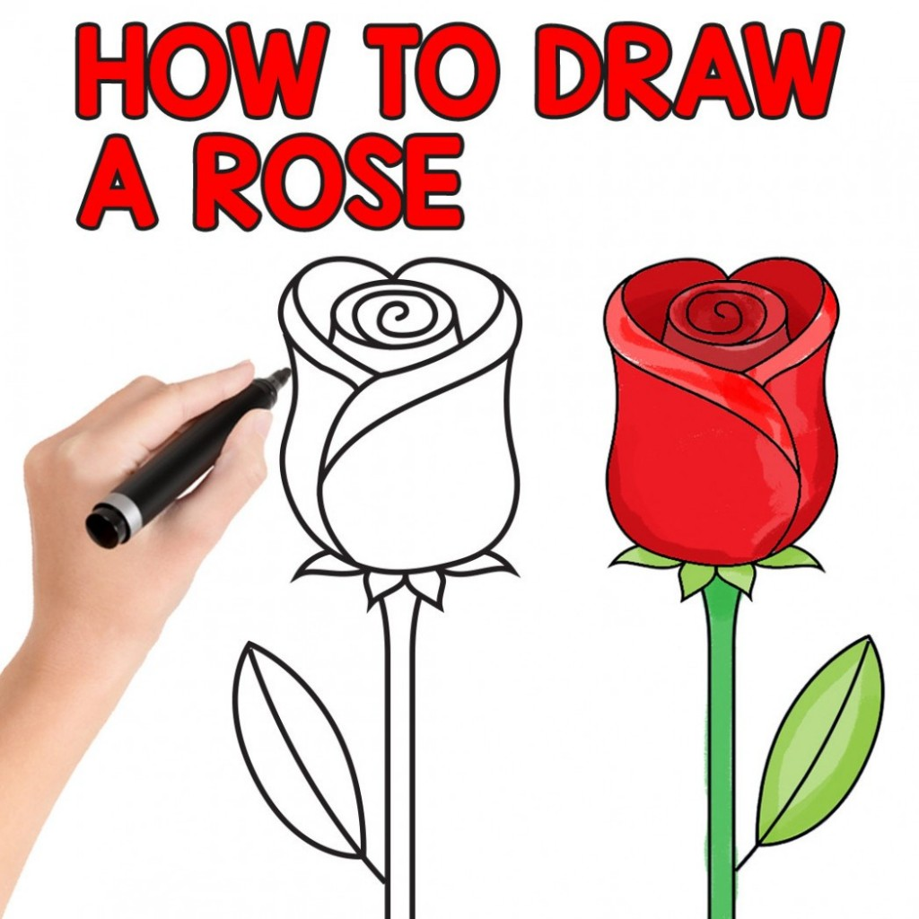 003 Essay Example How To Draw Rose Easy Step By For Beginners And Kids Writing On Flower Kidsssl1 Unbelievable About In Marathi Kannada Language Large
