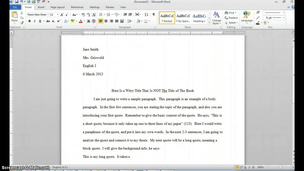 003 Essay Example How To Put Long Quote In An Unique A Large Mla Harvard Large