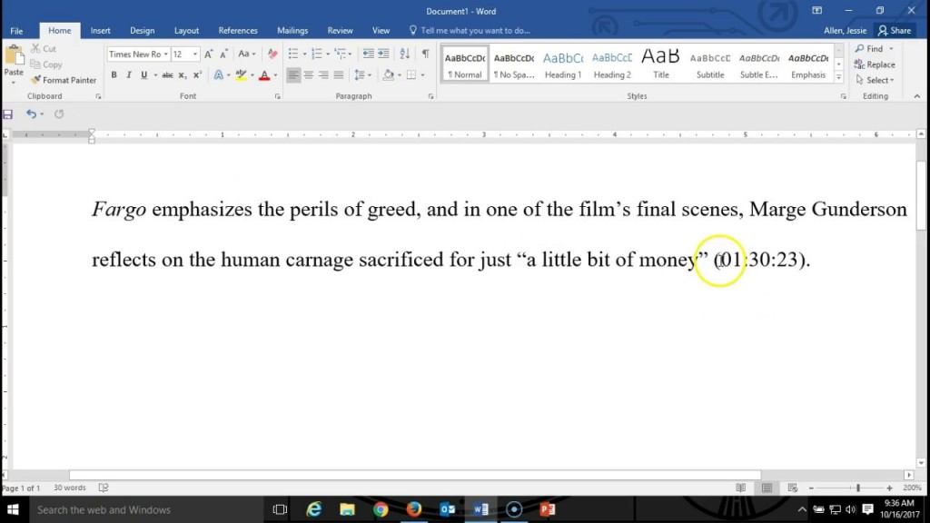 003 Essay Example How To Quote Movie In An Excellent A Cite Mla Citation Film Large
